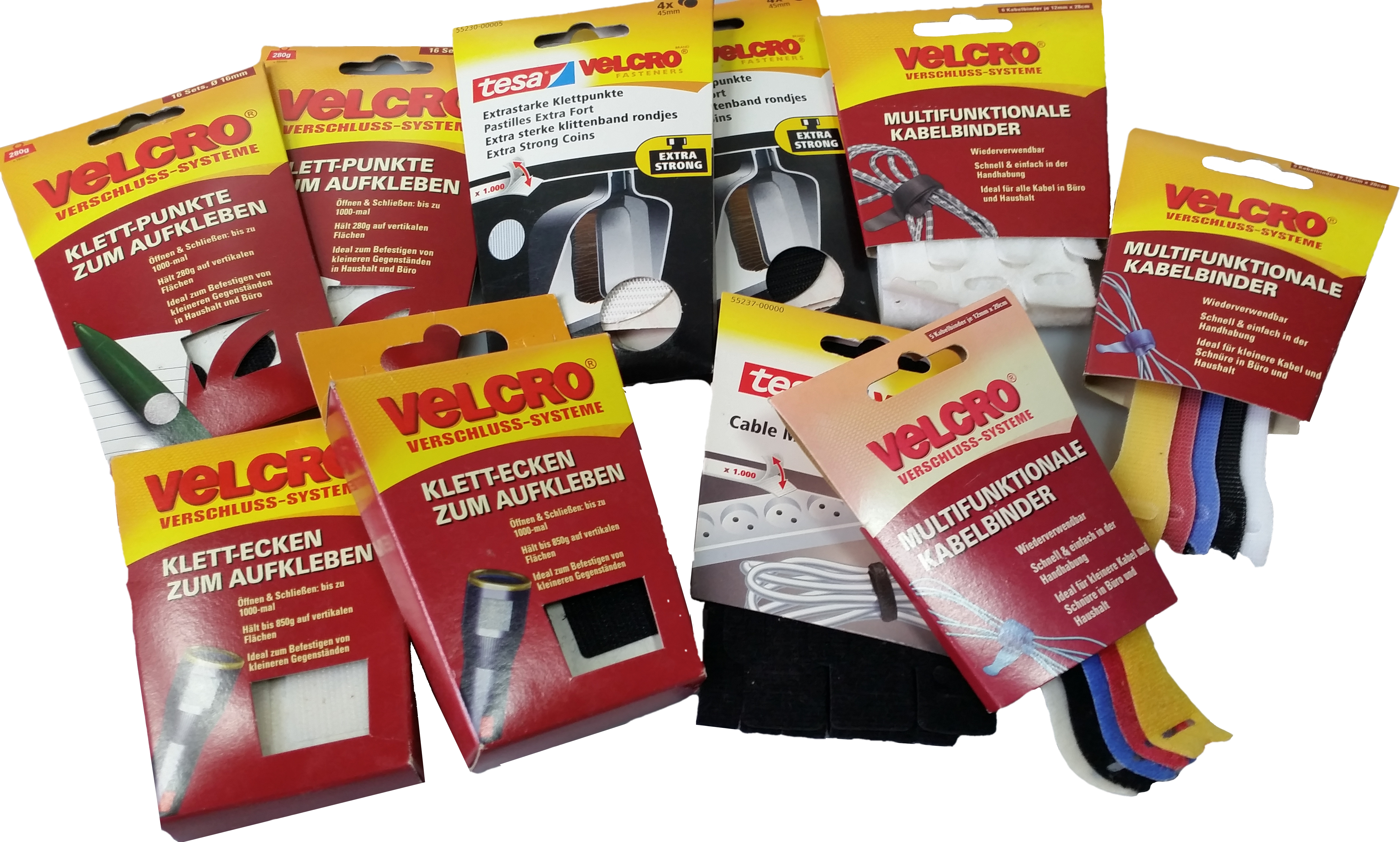 Velcro, Tesa Velcro großes Klett und Kabelbinder Sortiment gesamt ...